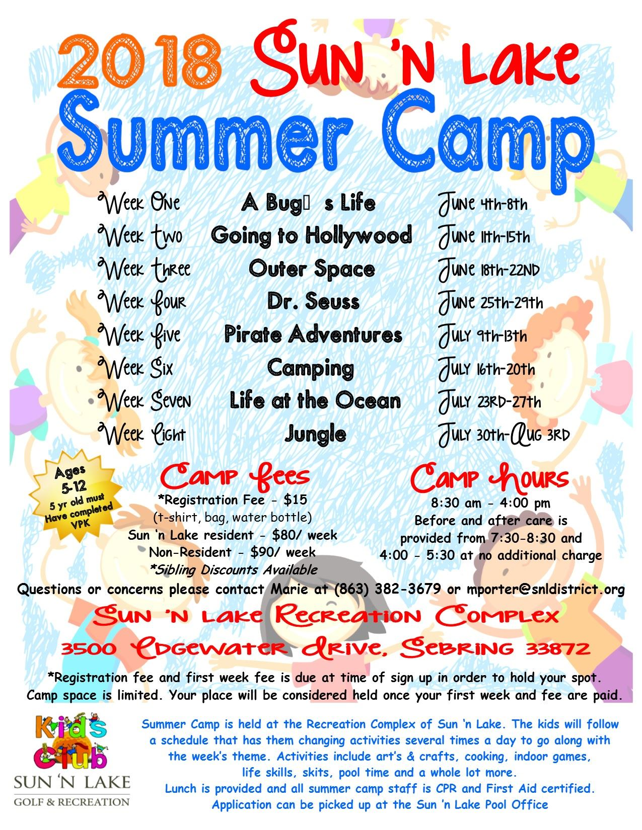 Summer Camp Flyer 2018
